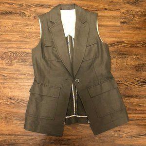 NWOT J Crew Green Vest. Linen